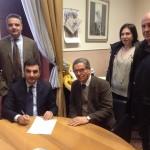 Il presidente Gambacorta e il sindaco Mario Bianchino