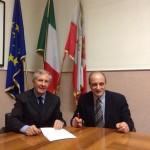 Il vicesindaco di Ariano, Giovannantonio Puopolo e il  vicepresidente della Provincia Antonio Aurigemma